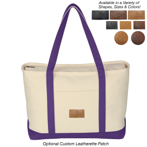 Large Heavy Cotton Canvas Boat Tote Bag